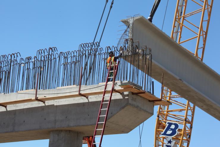 Californian high-speed rail bridge