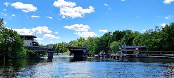 Movable bridge in Upplands-Bro