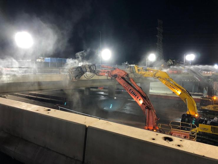 bridge demolition for the West Gate Tunnel project