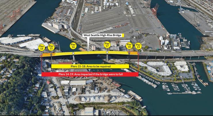 West Seattle High Level Bridge impact area